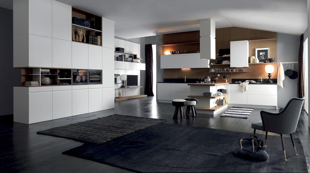 The Tatto modern kitchen in elegantly designed wood by ASSO CUCINE ...